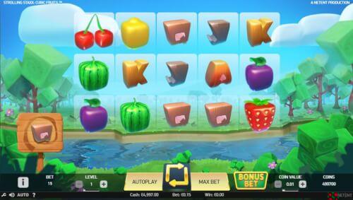 strolling staxx cubic fruits screenshot