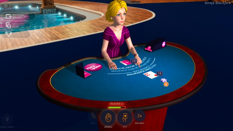 sonya blackjack screenshot