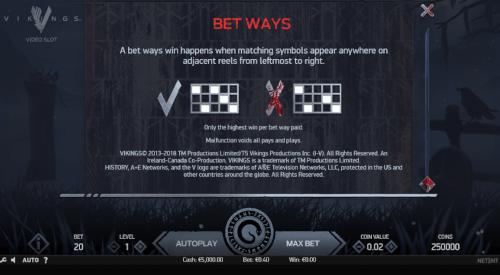bet ways 243