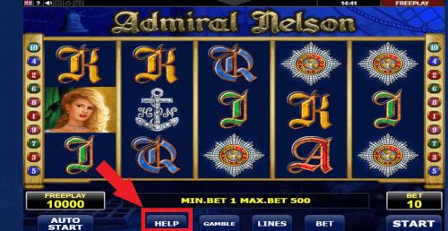 info admiral slot