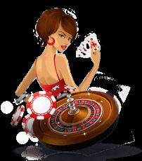 croupier met roulette wiel