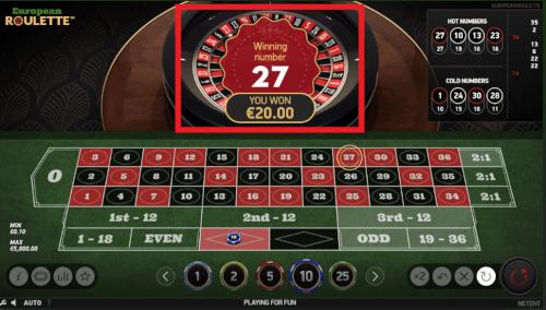 eerste 20 euro winnen