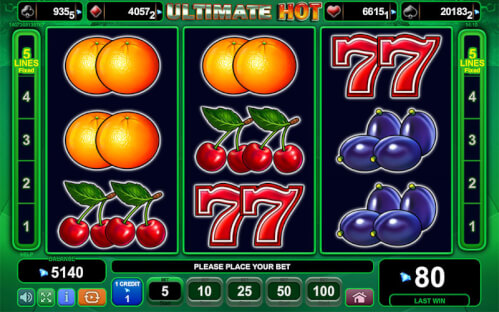 fruit symbolen op gokkast