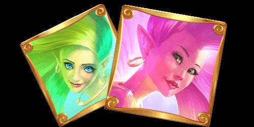 groene en roze fairies