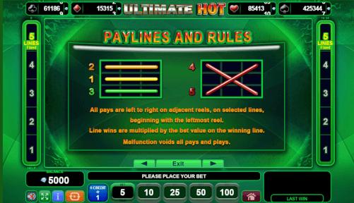 paylines regels gokkast