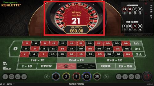 roulette winnen