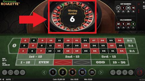 zwarte vak roulette
