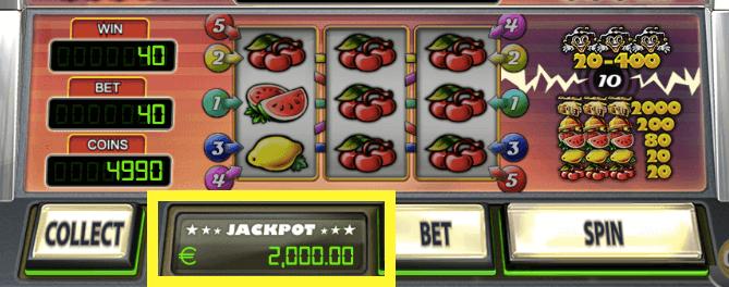 Oplopende Jackpot zie je onderin