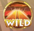 Wild symbool met tempel