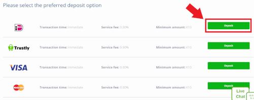 selecteer ideal betaalmethode