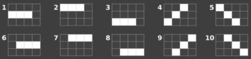Winlijnen met drie symbolen op vier reels