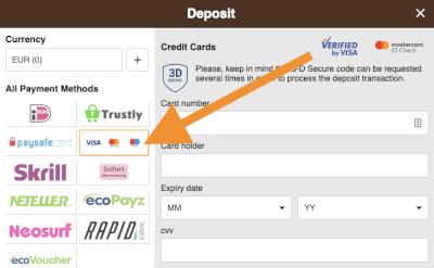Kies voor Mastercard en vul je gegevens in