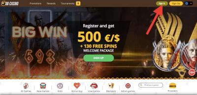 Log in bij het online casino