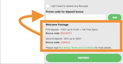 Vul een bonuscode in