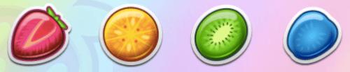 Simpele 2D spelsymbolen