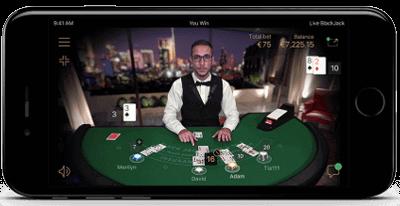 Live casino iphone