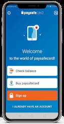 Paysafe card casino account