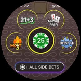 Side bets live casino spel