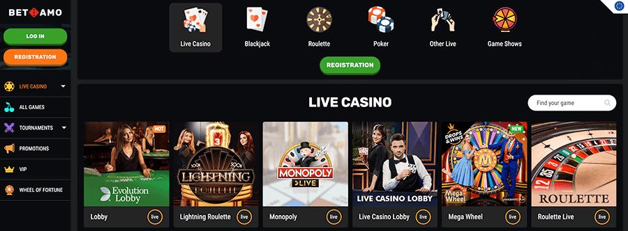 Betamo Live casino is lekker uitgebreid