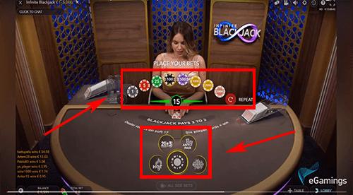 Infinite Blackjack regels