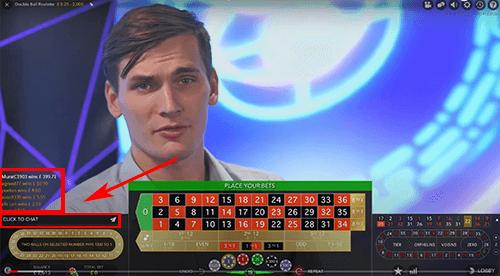 Live chat roulette