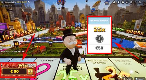 Live monopoly bonusspel
