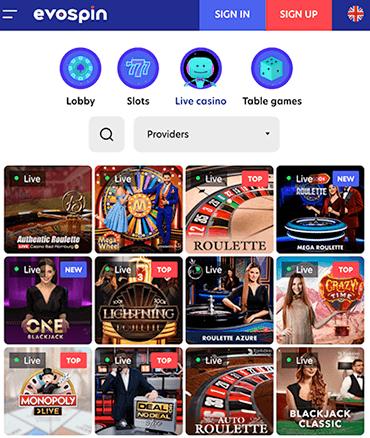 Of ontdek natuurlijk het Live casino