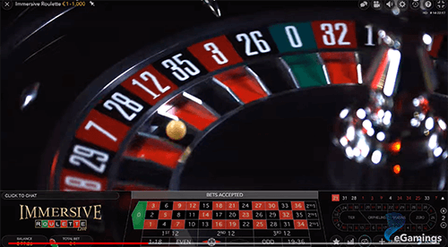immersive roulette feature