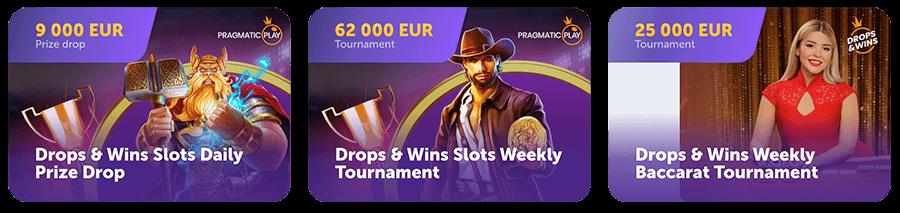 Geen bonussen maar wel toernooien in het true flip casino