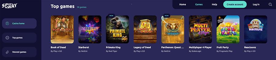 Keuze uit ongeveer 1000 games