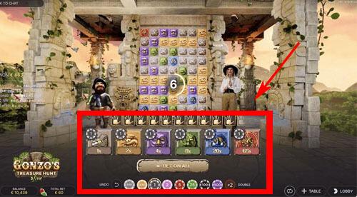 Gonzo's treasure hunt bet on