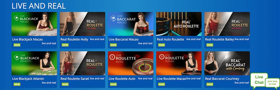Spellen in het live casino
